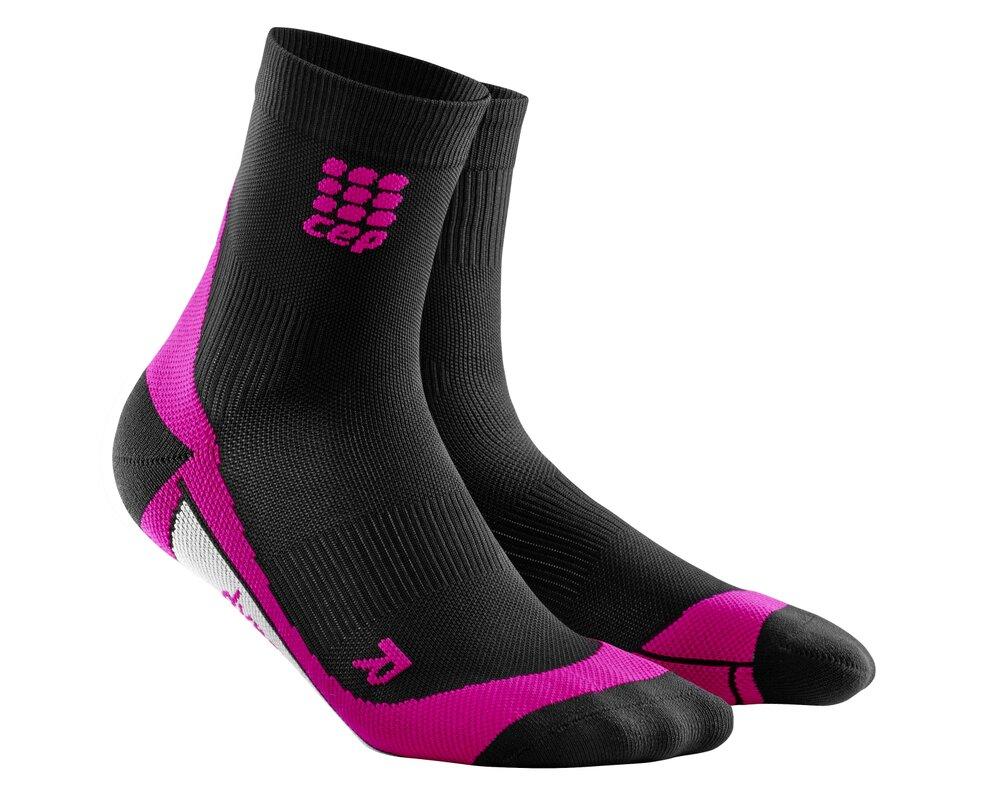 f300264473f CEP Krátké ponožky dámské černá růžová