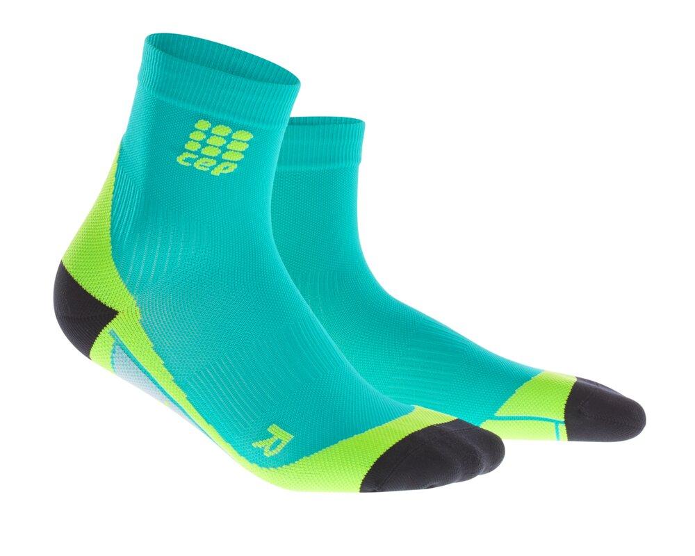 CEP Krátké ponožky pánské lagoon limetková  ac2fcf1d0f