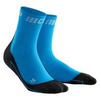 CEP krátké zimní běžecké kompresní ponožky merino dámské modrá 31d8d8d063
